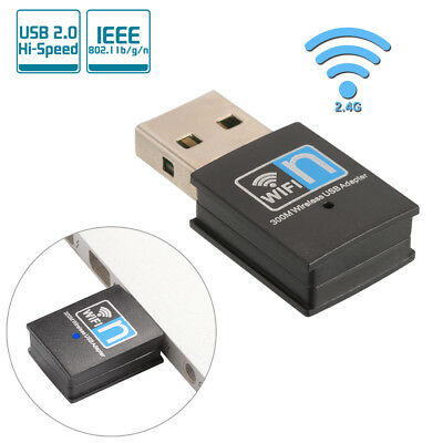300Mbps Wifi USB Adapter Wireless Dongle 802.11b/g/n 2.4GHz PC Network LAN AC830