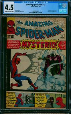 Amazing Spider-Man #  13  1st appearance of Mysterio !  CGC 4.5  scarce book !