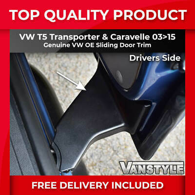 Vw T5 T5.1 Transporter & Caravelle Genuine Oe O.s Sliding Door Hinge Cover Trim