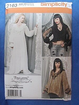 ada8ace8f2 Simplicity ARKIVESTRY Gothic Tunic Dress Top Costume Pattern 2163 30.5-34