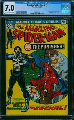 Amazing Spider-Man # 129  1st app. of the Punisher !   CGC 7.0  scarce book !