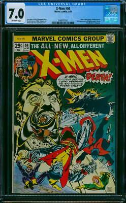 X-Men # 94  You Cam Seeking Count Nefaria !   CGC 7.0 scarce book !