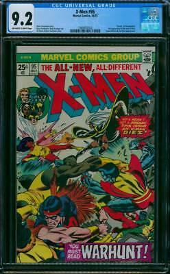 X-Men # 95  This Issue an X-Man Dies !   CGC 9.2 scarce book !