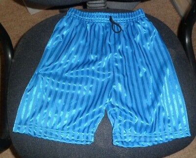 New Boys Blue Shorts Size 32 In Waist Elasticated Waist With Black Drawstring