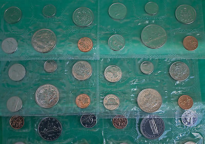 Lot of 6 sets 1968 thru 1973 CANADA 6 Coin Proof-Like PL 30 Coins Canadian