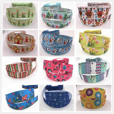 Wholesale! 1/50yds 1'' (25mm) printed grosgrain ribbon Hair bow sewing