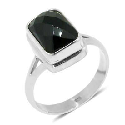 Boi Ploi Black Spinel Solitaire Ring in Sterling Silver 6.660 Ct