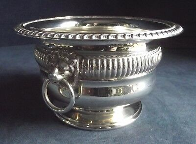 "SUPERB 6"" ~ SILVER Plated ~ GEORGIAN Styled ~ LIONS Head ~ Fluted BOWL ~ c1900"