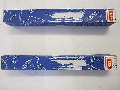 """Lot Of 2 Oxide Coated HSS Reduced Shank 7/16"""" Silver & Deming Drill Bits NEW"""