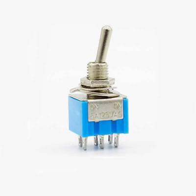 2pcs Mini MTS-202 6-Pin DPDT ON-ON 6A 125VAC Toggle Switches 2 Position