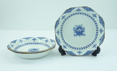 Wood and Sons Blue Bombay Set Of 3 Soup Cereal Bowls Coupe England Ware Flowers