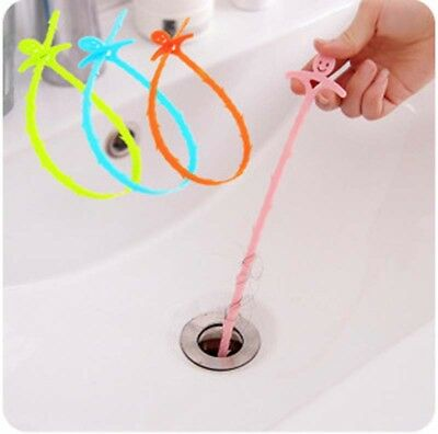 Convenient Sink Toilet Blockades Clean Tools Kitchen Drain Sewer Cleaning Hooks
