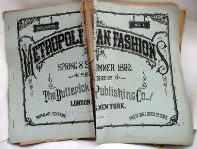 1882 antique BUTTERICK PATTERN CATALOG large FASHION