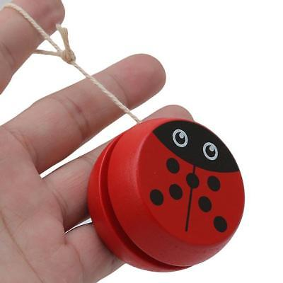 Wooden Ladybug Insect YO-YO Ball Spin Classic Toys For Kids Children Gift C