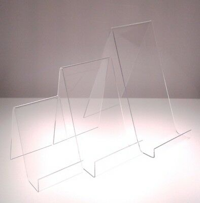 Book Display Plate Stand Clear Acrylic Perspex Small Medium Large Displays