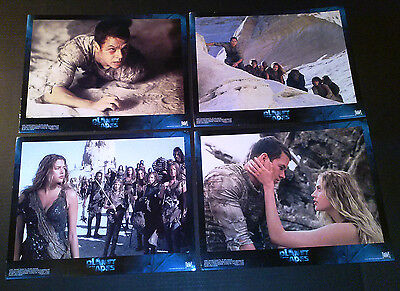 Lobby Card 4 lot~ PLANET OF THE APES ~2001 ~Mark Wahlberg ~Estella Warren