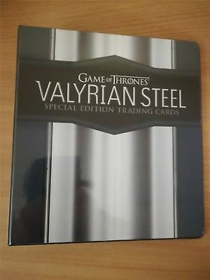 Game Of Thrones Valyrian Steel Official Rittenhouse Binder