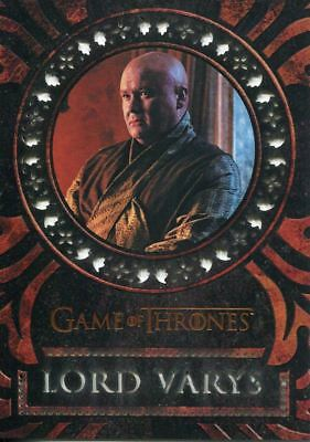 Game Of Thrones Valyrian Steel Laser Cut Chase Card LC08 Lord Varys