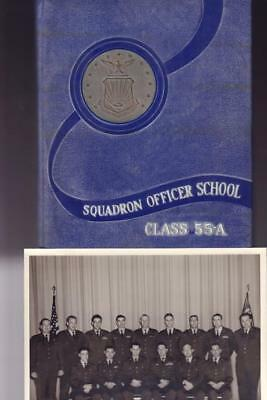 Very Rare 1955 Us Air Force Squadron Officer School 55-A Military Year Book  Vgc