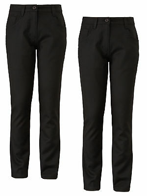 Top Class Girls Pack Of Two Jean Style School Trousers