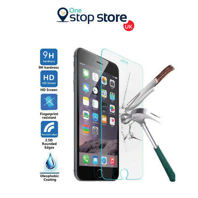 100% Genuine Tempered Glass Screen Protector Protection For Apple iPhone 8 - NEW