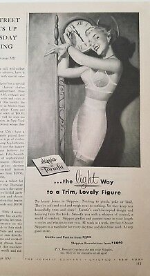 1952 Formfit skippies women's girdle bra garters light way lovely figure ad