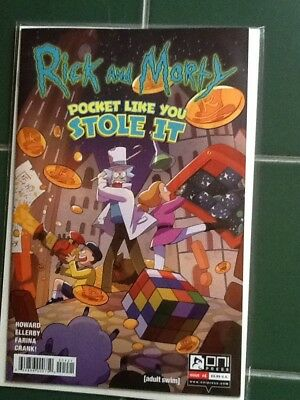 Rick and Morty Pocket Like You Stole It Issue #4 Variant  Cover Oni Press Comic