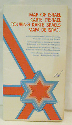 Map of Tour Israel Kibbutz Inns Youth Hostels Index Rotterdam 1978 World Cruise