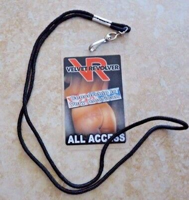 Guns & Roses Velvet Revolver Tour Laminate Backstage Pass Perla Hudson Owned