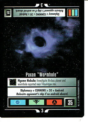 Star Trek Ccg Q Continuum Rare Card Paxan Wormhole