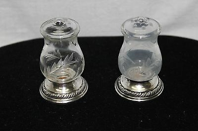 "Quaker Silver Company #703 Salt & Pepper Shakers ""Sterling Weighted"" Pre-owned"