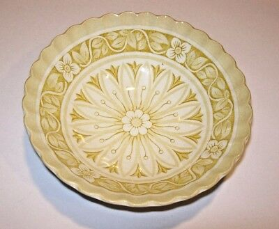 """J & G Meakin Medici Yellow GOLD WHITE CHINA DINNERWARE COUPE CEREAL BOWL 6 5/8"""""""