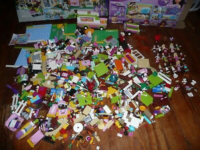 HUGE lot LEGO FRIENDS Building Toy 2500+ PIECES incl 15 minifigs + 19 animals