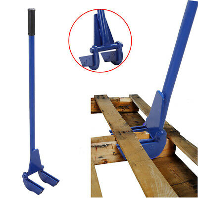 "Deluxe Steel Pallet Buster Breaker with Handle, 44"" - Reusing Wood Nail Puller"