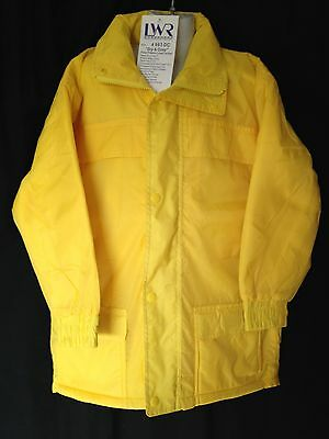 BNWT Boys or Girls Sz 8 LW Reid Waterproof Polar Fleece Lined Yellow Rain Coat