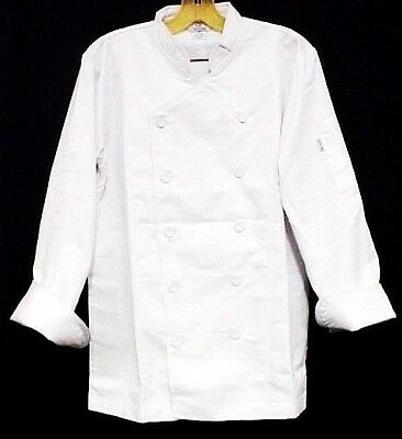 White Chef Coat CIA Culinary Institute America Double Breasted 6X New Style 9602