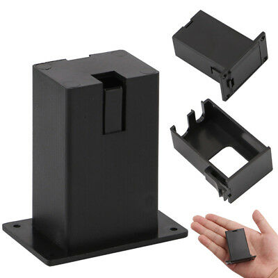 Guitar Pickup 9V Battery Box Black Holder Case Compartment Cover Bass Pickup R1