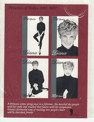 Liberia: 1997 Princess DIANA, in memoriam special minisheet. MUH. Going cheap