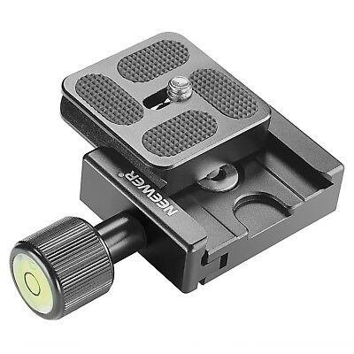 Neewer 40mm Metal Quick Release Clamp With Plate and Spirit Level Acra Swiss Fit
