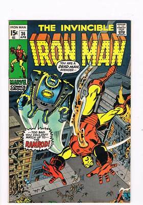 Iron Man # 36  You can't Match up to the Ramrod !  grade 8.5 scarce book !