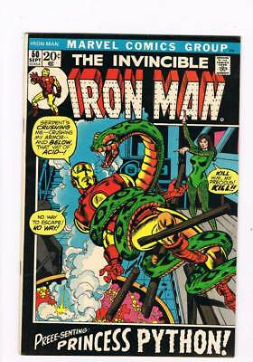 Iron Man # 50 The Curtain Rises on Deathplay !  grade 8.0 scarce book !!