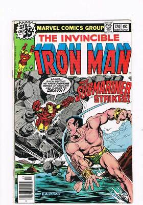 Iron Man # 120 The Old Man and the Sea Prince !  grade 9.4 scarce book !!