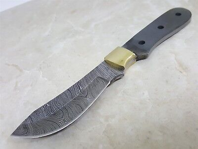 Full Tang Damascus Steel Knife Makers blade blank DIY Brass Bolster Included
