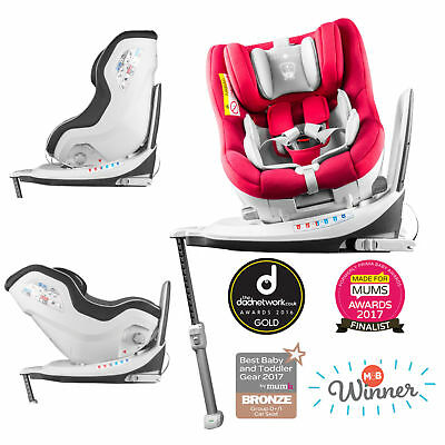 New Cozy N Safe Red / Grey Merlin 360 Group 0+/1 Reclining Isofix Baby Car Seat