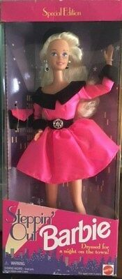 New Mattel Special Edition Steppin Out Barbie Doll Nrfb #14110
