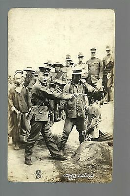 China RP c1910 EXECUTION Prisoner BEING SHOT Pistol to Head DEATH Dying