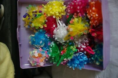 LARGE GROUP OF  handmade hair clips and barrettes  ALL COLORS 21 TOTAL