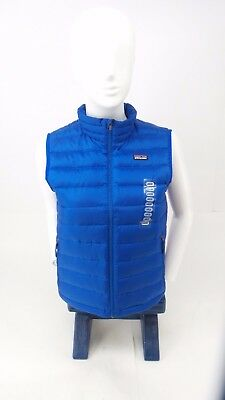 Patagonia Boy's Viking Blue Down Sweater Vest Size Large 12 -Authentic Patagonia