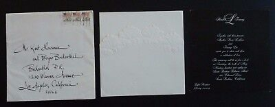 Tommy Lee & Heather Locklear 100% Real 1986 Wedding Invitation Complete