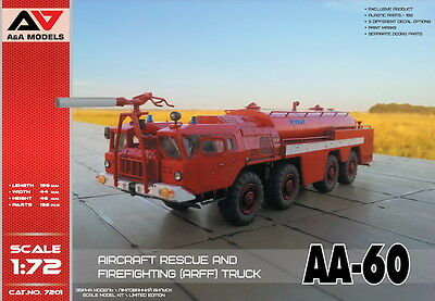 A&A MODELS 7201 AA-60 Aircraft Rescue & Firefighting (ARFF) Truck in 1:72